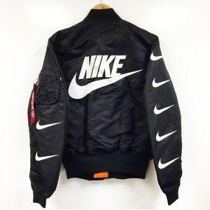 Nike x Alpha industries bomber jacket NWT